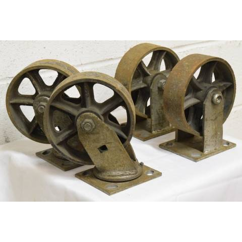 #22607 Industrial Metal Cart Casters image 2
