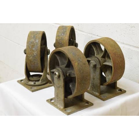#22607 Industrial Metal Cart Casters image 3