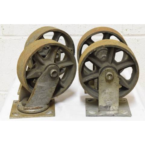 #22624 Metal Industrial Cart Casters image 1