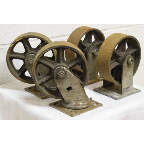 #22624 Metal Industrial Cart Casters image 2
