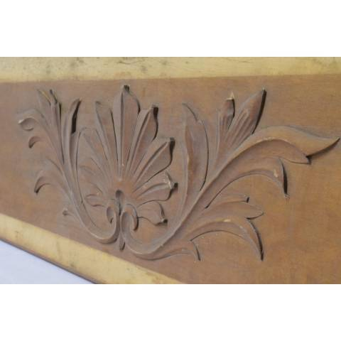 #22769 Wood Panel with Applied Carving image 3