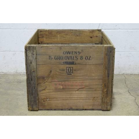 #22785 Old Owens Wood Crate image 2