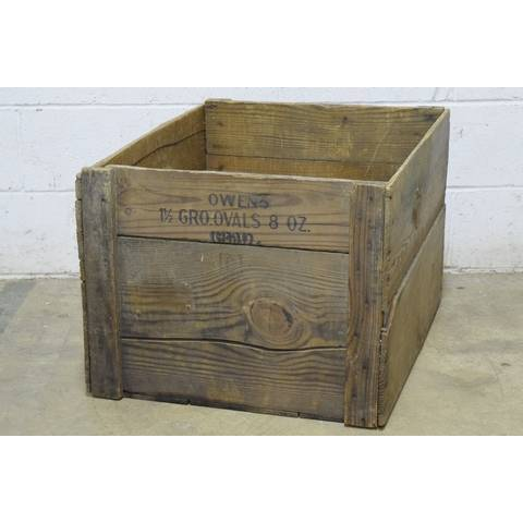 #22785 Old Owens Wood Crate image 4