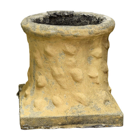 #22969 Salvaged Concrete Chimney Pot image 1