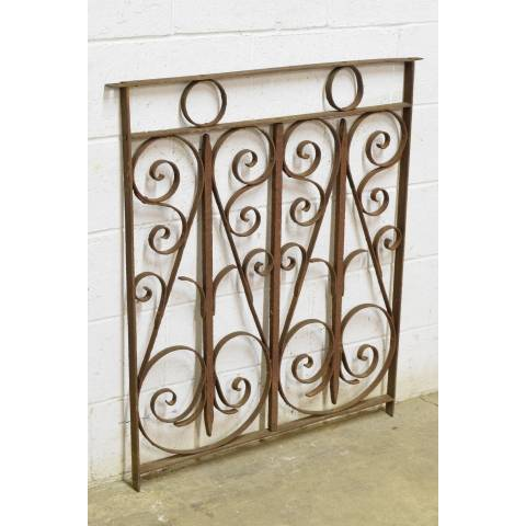 #23006 Salvaged Wrought Iron Panel image 2