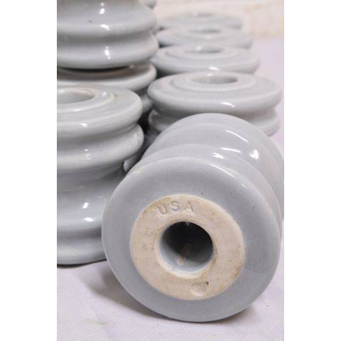 "#23719 3"" Blue Porcelain Insulator image 5"