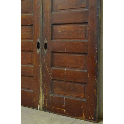 #23795 Salvaged Oak Pocket Doors image 3