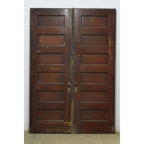 #23795 Salvaged Oak Pocket Doors image 4