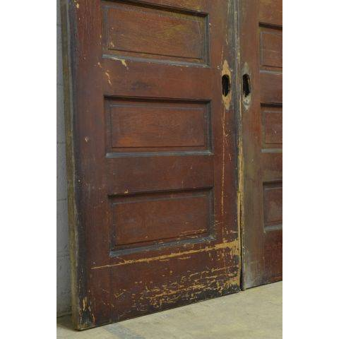 #23795 Salvaged Oak Pocket Doors image 5