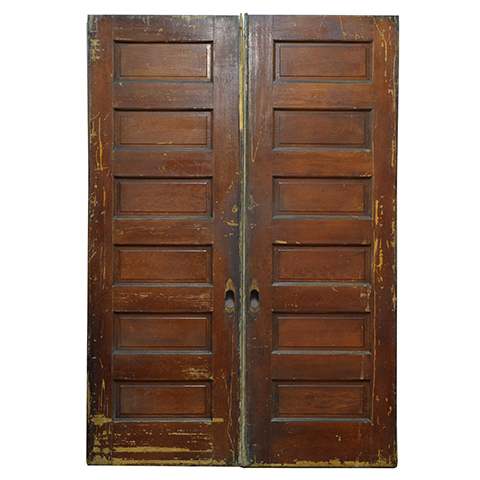 #23796 Salvaged Oak Pocket Doors image 1