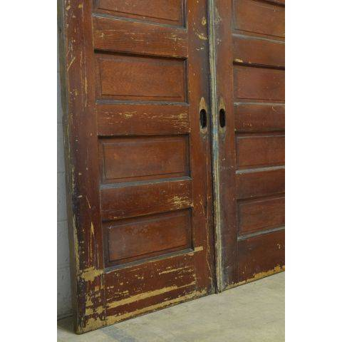 #23796 Salvaged Oak Pocket Doors image 2