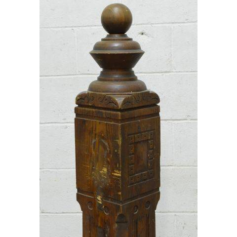 #24110 Salvaged Staircase Newel Post image 4