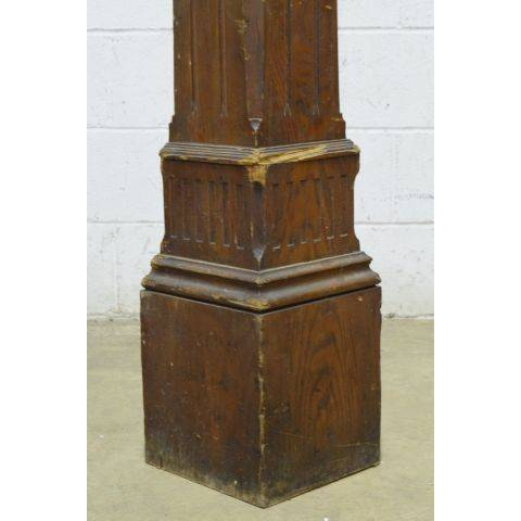 #24110 Salvaged Staircase Newel Post image 6