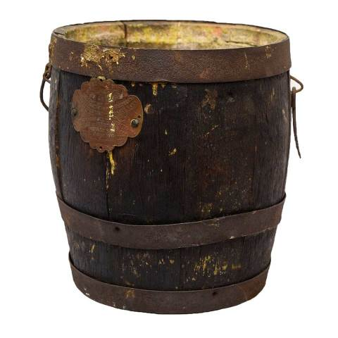 #24479 Small Wood Barrel image 1