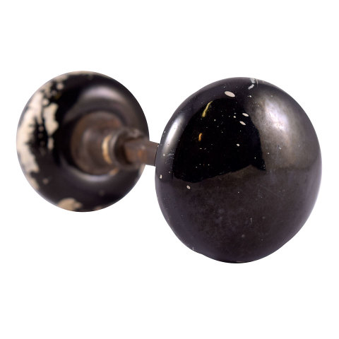 #24715 Black Porcelain Doorknob Set image 3