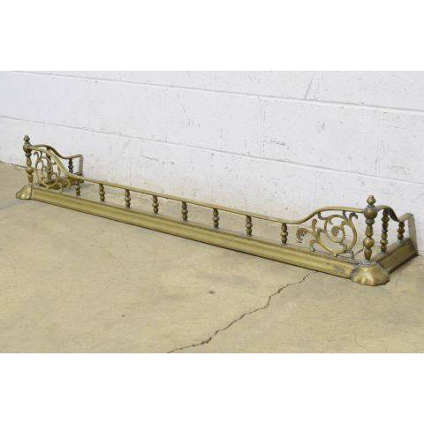 #24859 Antique Brass Fireplace Fender image 2
