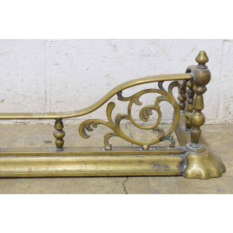 #24859 Antique Brass Fireplace Fender image 4