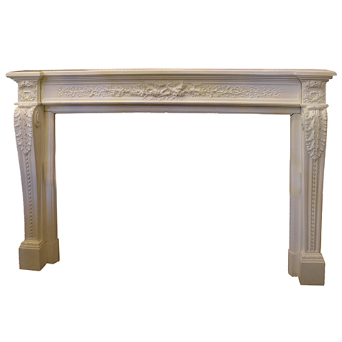 #26462 Salvaged Cast Fireplace Mantel image 1