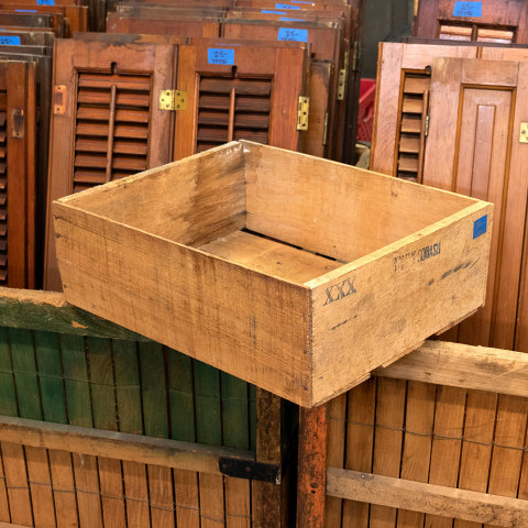 #26882 Antique Wood Squash Crate image 1
