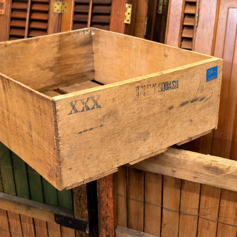 #26882 Antique Wood Squash Crate image 2
