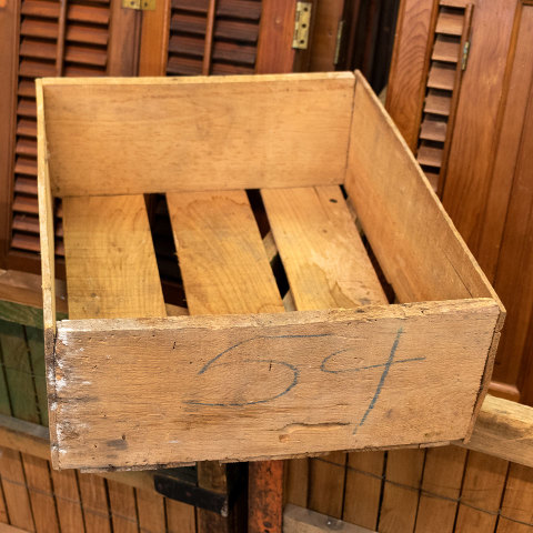 #26882 Antique Wood Squash Crate image 4