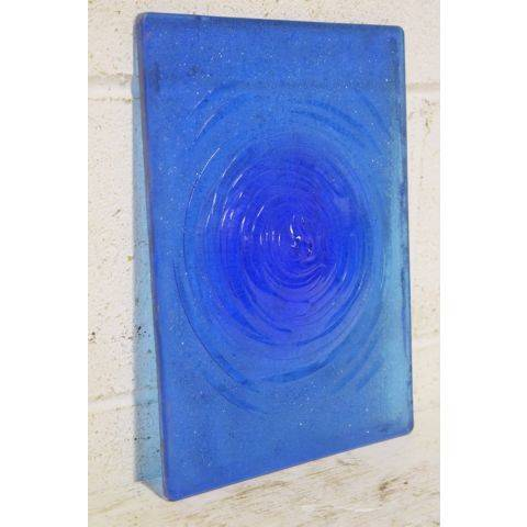 #27170 Blue Glass Rondel Pane image 2