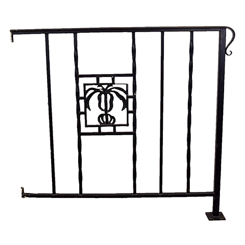 #27402 Salvaged Wrought Iron Handrail image 1