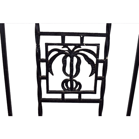 #27402 Salvaged Wrought Iron Handrail image 2