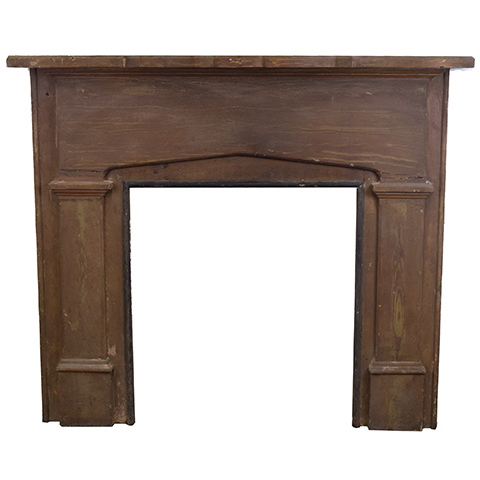 #27541 Salvaged Wood Fireplace Mantel image 1