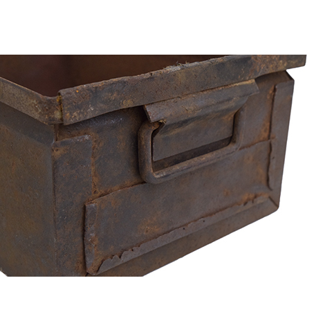 #27638 Vintage Industrial Metal Container image 2