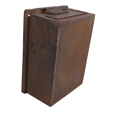 #27638 Vintage Industrial Metal Container image 4