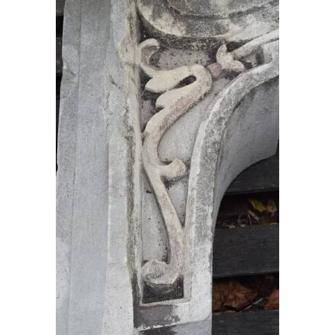 #2782 Carved Stone Building Ornament image 5