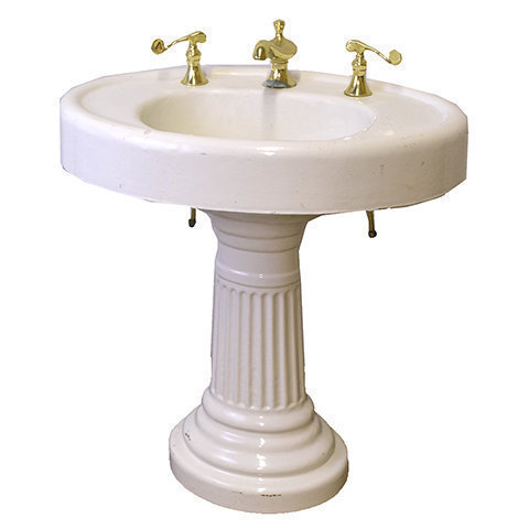 #27938 Cast Iron Pedestal Sink image 1