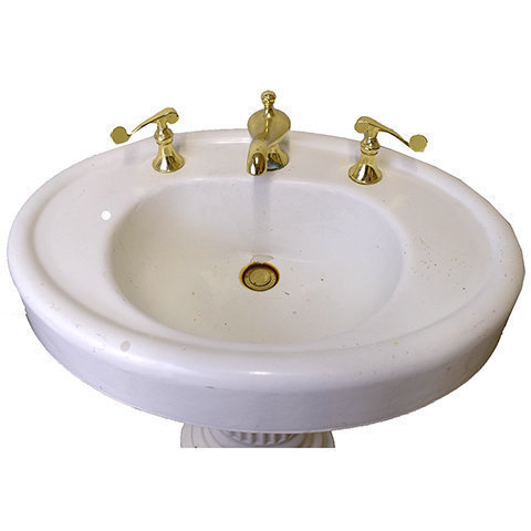#27938 Cast Iron Pedestal Sink image 2