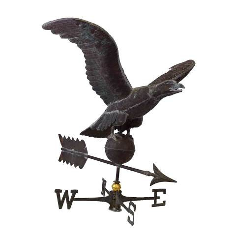 #28090 Salvaged Copper Eagle Weathervane image 2