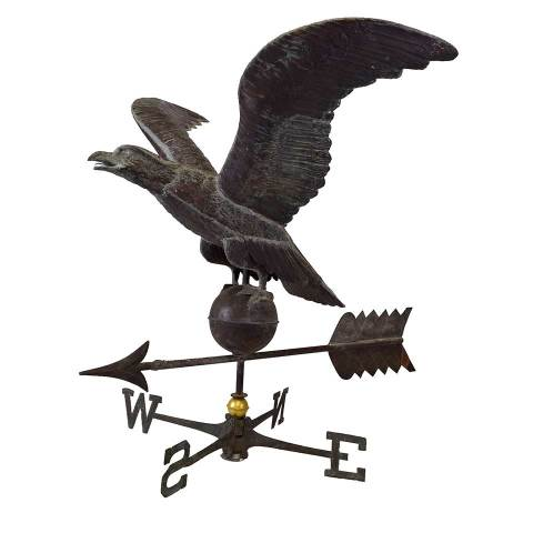 #28090 Salvaged Copper Eagle Weathervane image 1