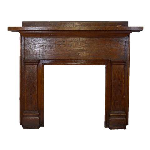 #28649 Salvaged Wood Fireplace Mantel image 1