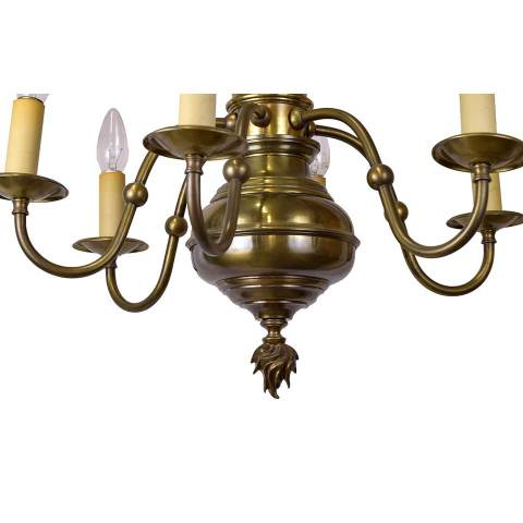 #28727 Traditional Brass Chandelier image 2