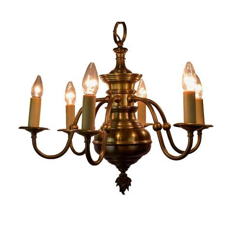 #28727 Traditional Brass Chandelier image 3