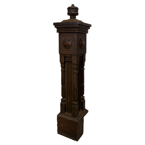 #30224 Salvaged Staircase Newel Post image 1