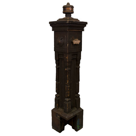 #30224 Salvaged Staircase Newel Post image 2