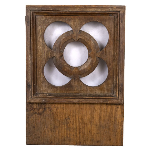 #32919 Salvaged Gothic Wood Panel image 1