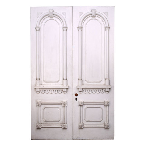 #33803 Salvaged Victorian Entry Doors image 1