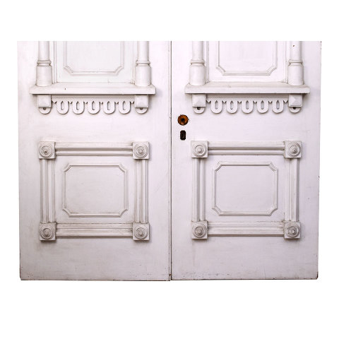 #33803 Salvaged Victorian Entry Doors image 3