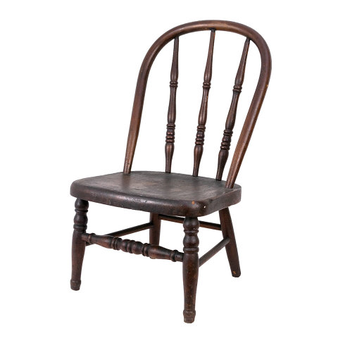 #35745 Antique Child Size Wood Chair image 1
