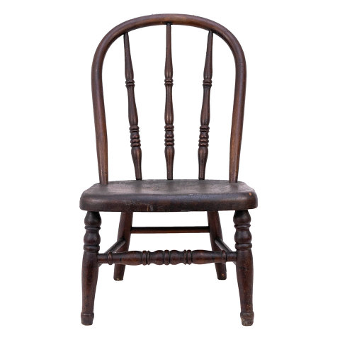 #35745 Antique Child Size Wood Chair image 2