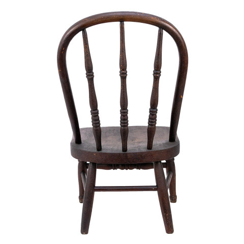 #35745 Antique Child Size Wood Chair image 4
