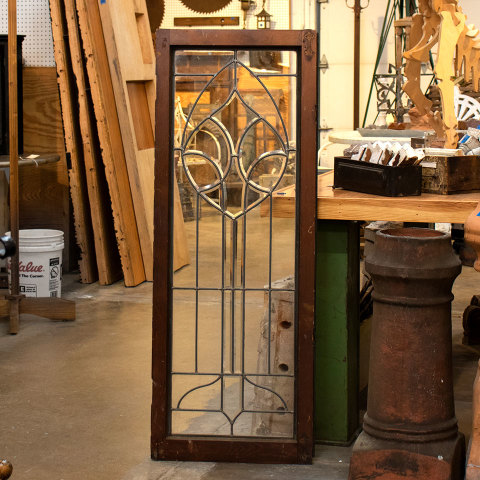 #36498 Leaded Glass Cabinet Door image 1