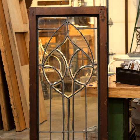 #36498 Leaded Glass Cabinet Door image 2