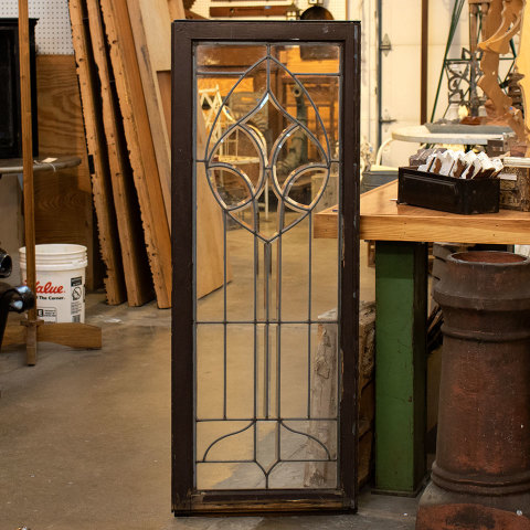 #36498 Leaded Glass Cabinet Door image 4